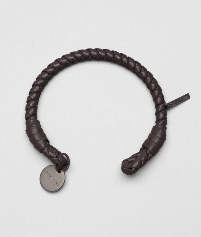 BOTTEGA VENETA Ebano Intrecciato Nappa Bracelet Keyring or Bracelets E fp