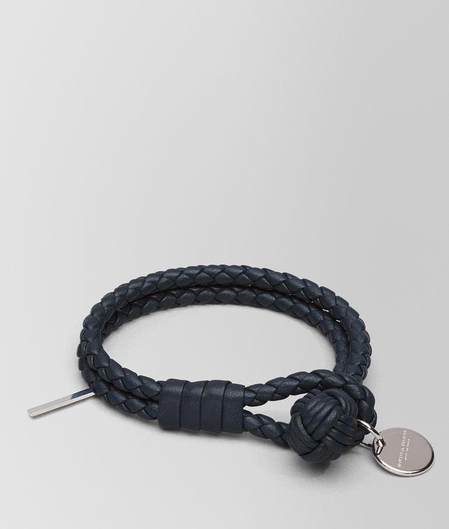 BOTTEGA VENETA BRACELET IN TOURMALINE INTRECCIATO NAPPA Keyring or Bracelets E fp