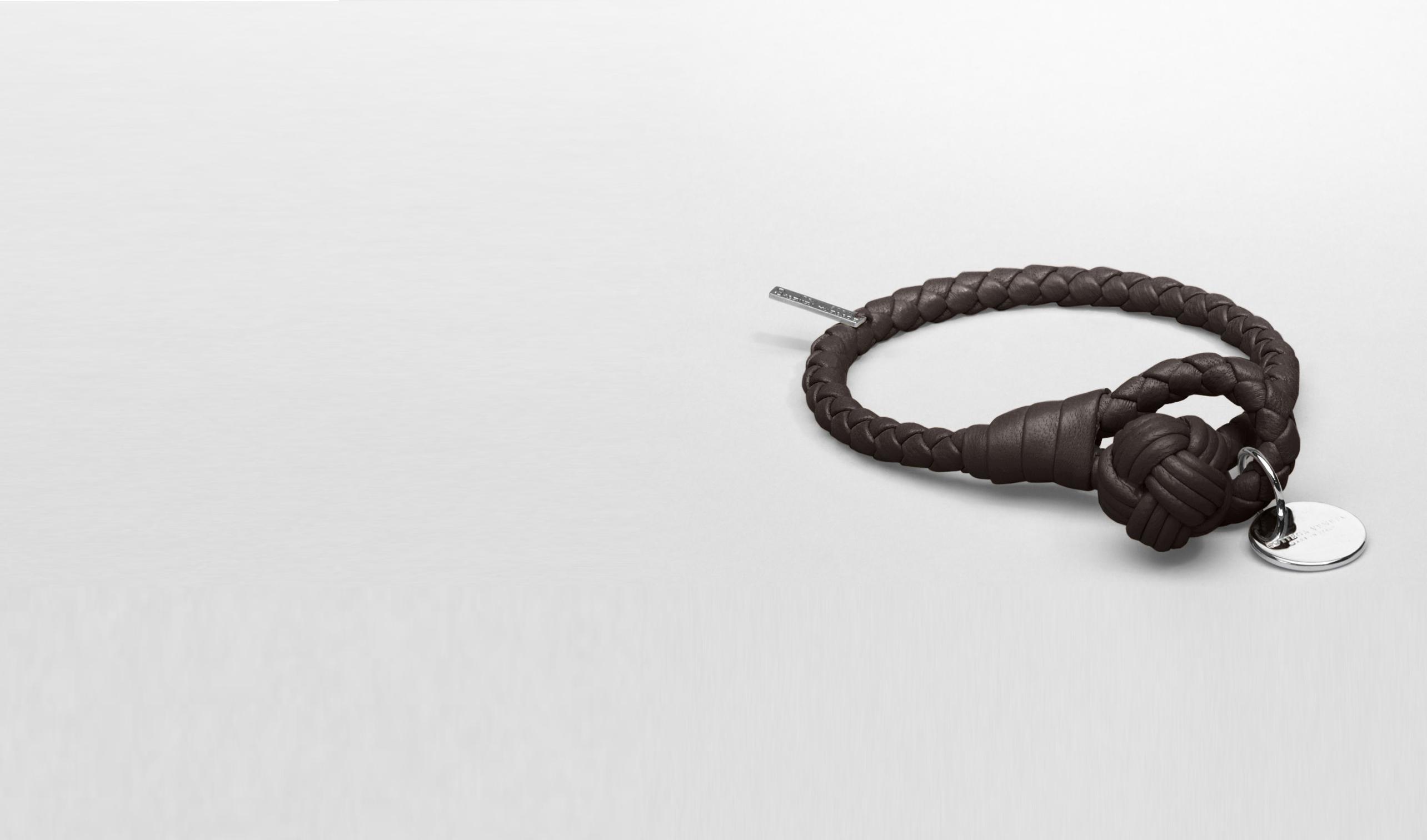 BOTTEGA VENETA Keyring or Bracelets E Ebano Intrecciato Nappa Bracelet pl