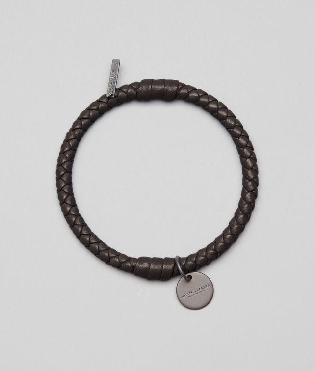 BOTTEGA VENETA Armband aus Nappaleder Intrecciato Ebano Schlüsselring oder Armband E fp