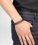 BOTTEGA VENETA Armband aus oxidiertem Silber und Nappaleder Intrecciato Ebano Armband U ap