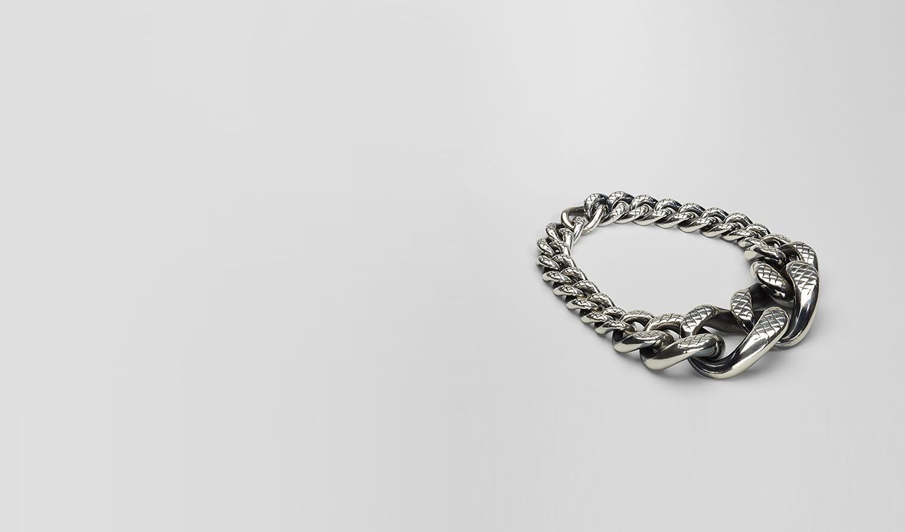 BOTTEGA VENETA Necklace D Intreccio Svanito Silver Necklace pl