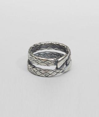 Intrecciato Oxidized Silver Ring