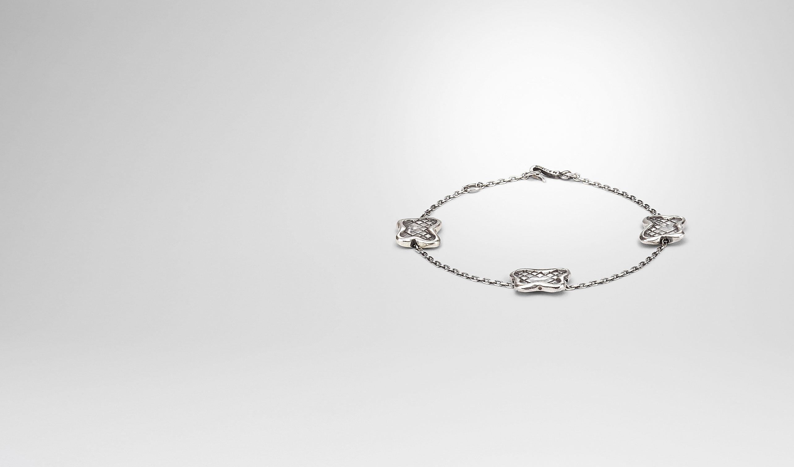 BOTTEGA VENETA Bracelet D BRACELET IN SILVER, INTRECCIATO DETAILS pl