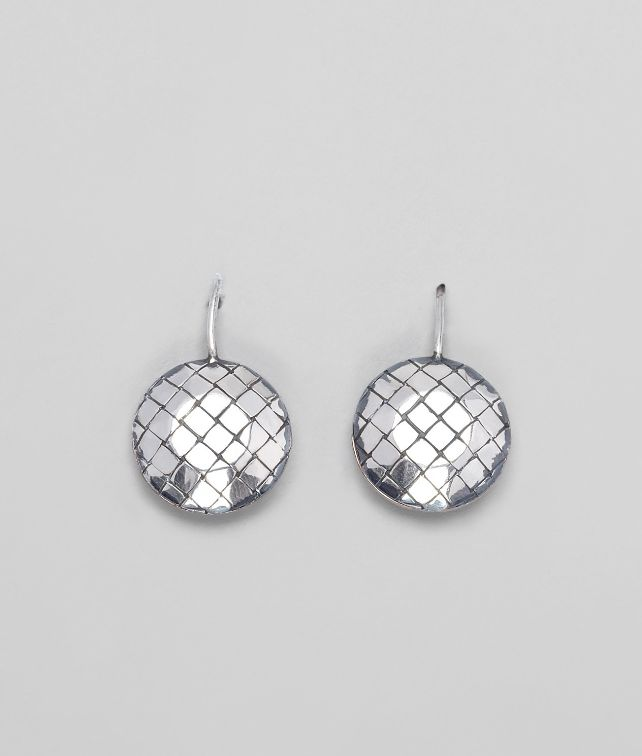 BOTTEGA VENETA EARRINGS IN SILVER, INTRECCIATO DETAILS Earrings D fp