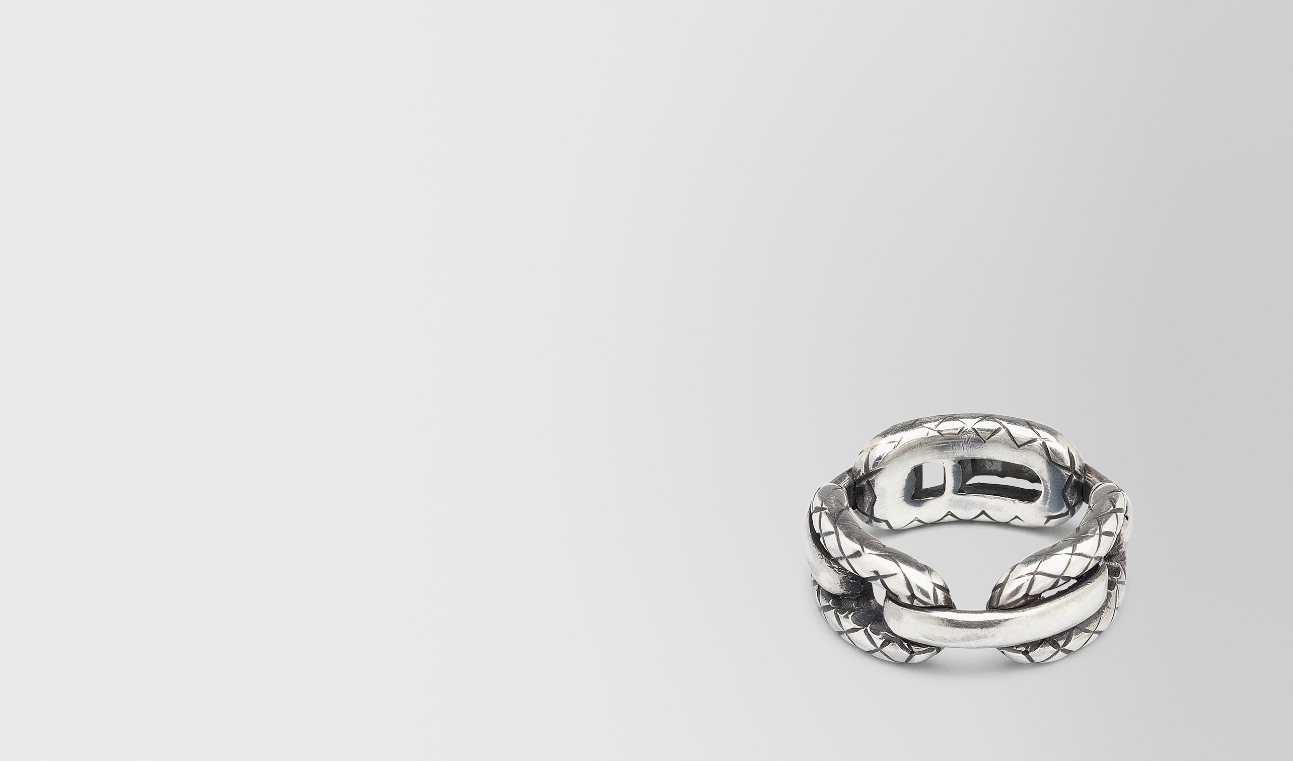 BOTTEGA VENETA Ring D RING WITH INTRECCIATO SILVER DETAILS pl