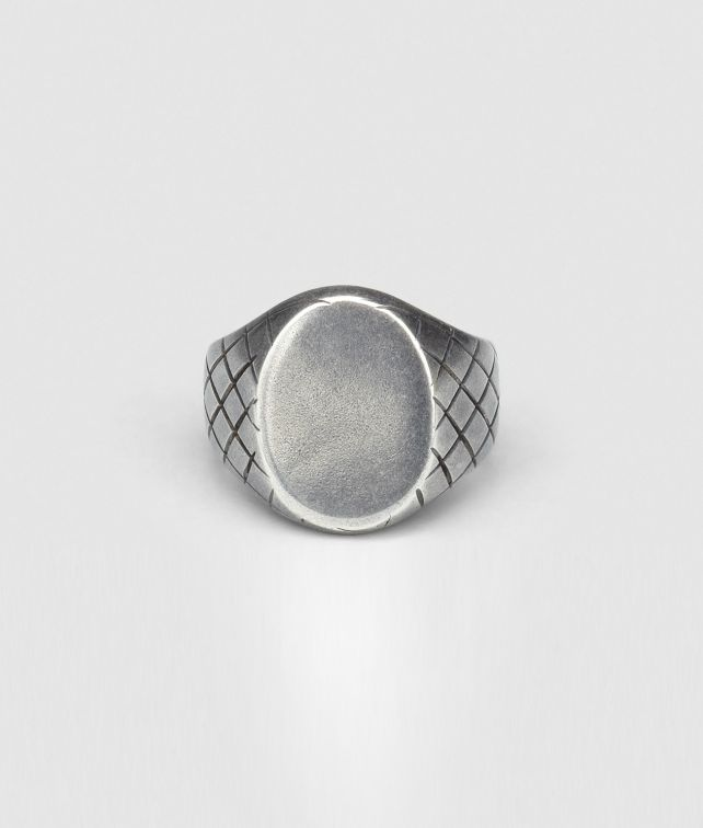 BOTTEGA VENETA INTRECCIATO OXYDIZED SVANITO SILVER RING Necklace and Ring U fp