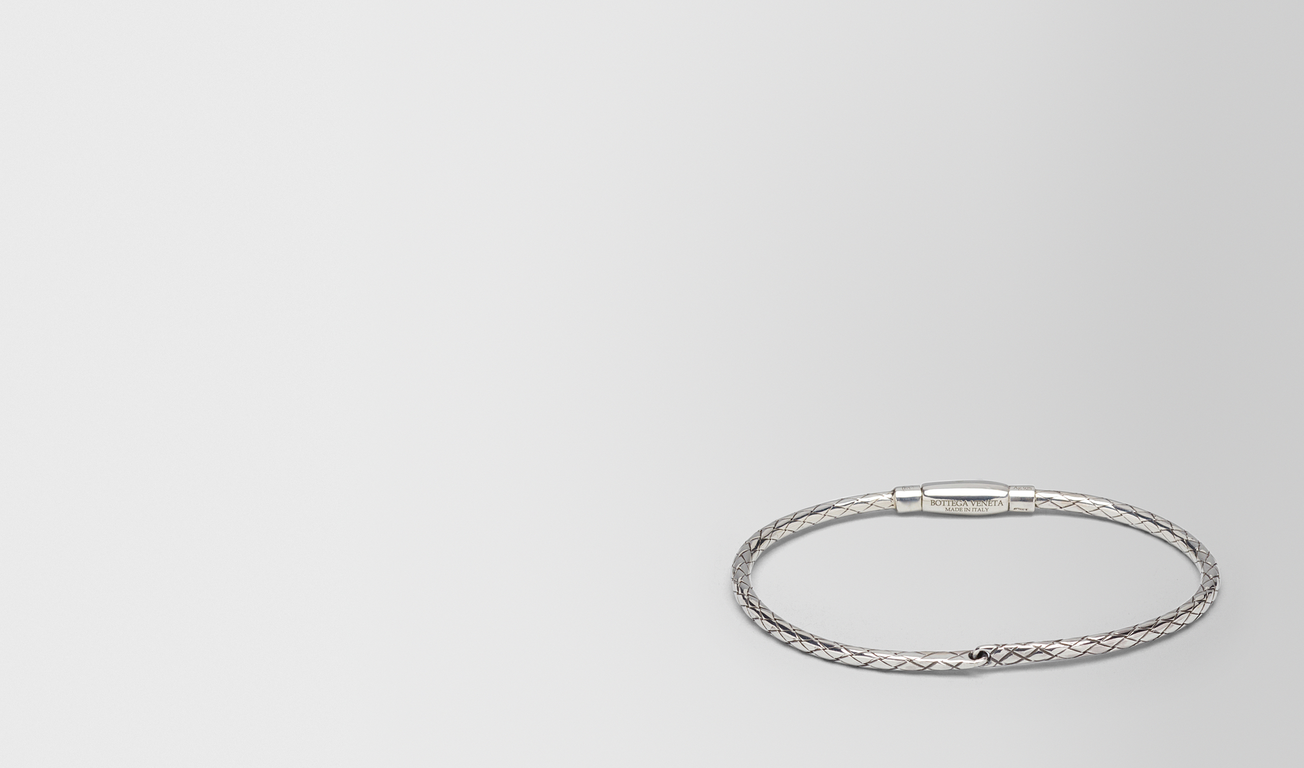 BOTTEGA VENETA Bracelet D BRACELET IN INTRECCIATO SILVER pl