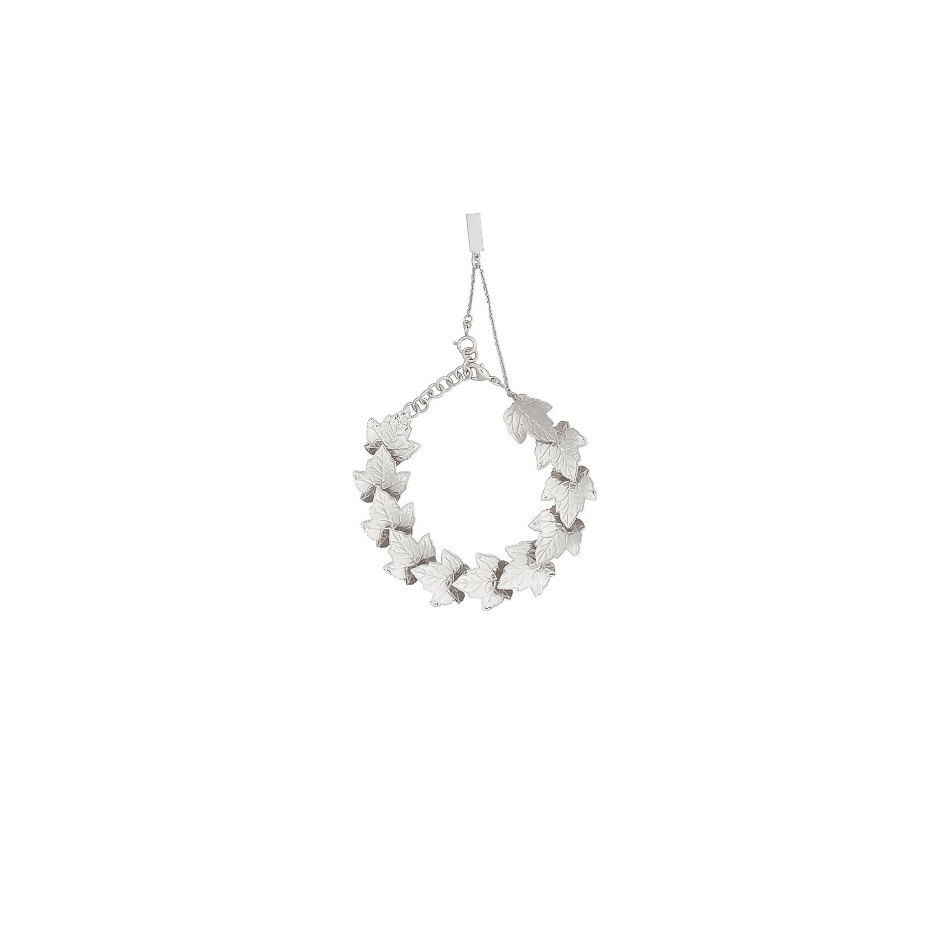 BALENCIAGA Balenciaga Silver Leaves Row Bracelet Bracelet D f