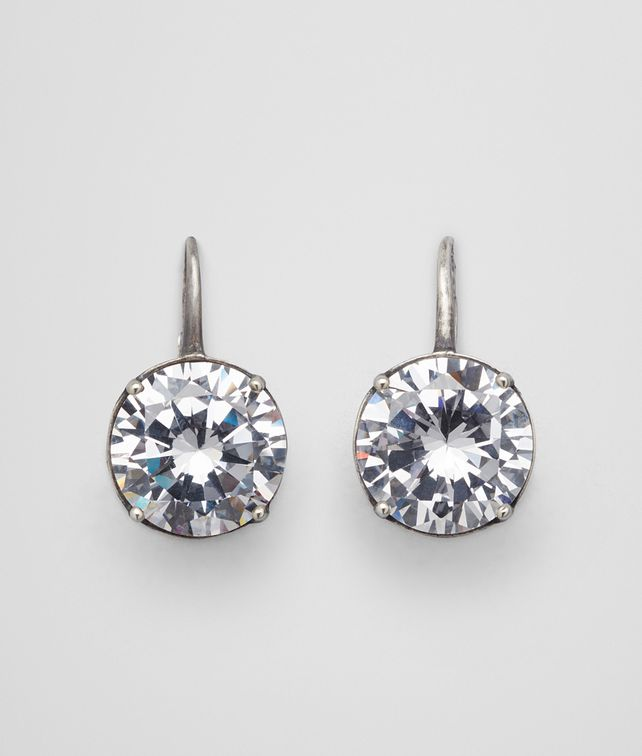 BOTTEGA VENETA EARRINGS IN SILVER AND STONES Earrings Woman fp