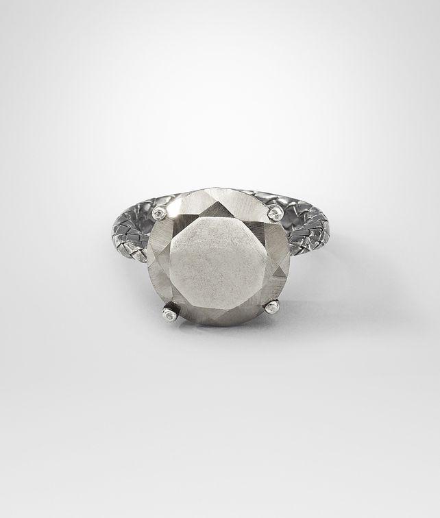 BOTTEGA VENETA Pyrite Intrecciato Oxydized Silver Ring Ring D fp