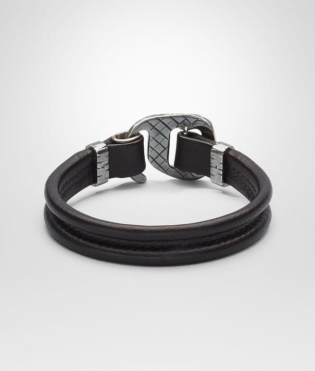 BOTTEGA VENETA Nero Intrecciato Oxidized Silver Nappa Bracelet Bracelet U fp