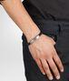 BOTTEGA VENETA Nero Intrecciato Oxidized Silver Cuir Bracelet Bracelet U ap
