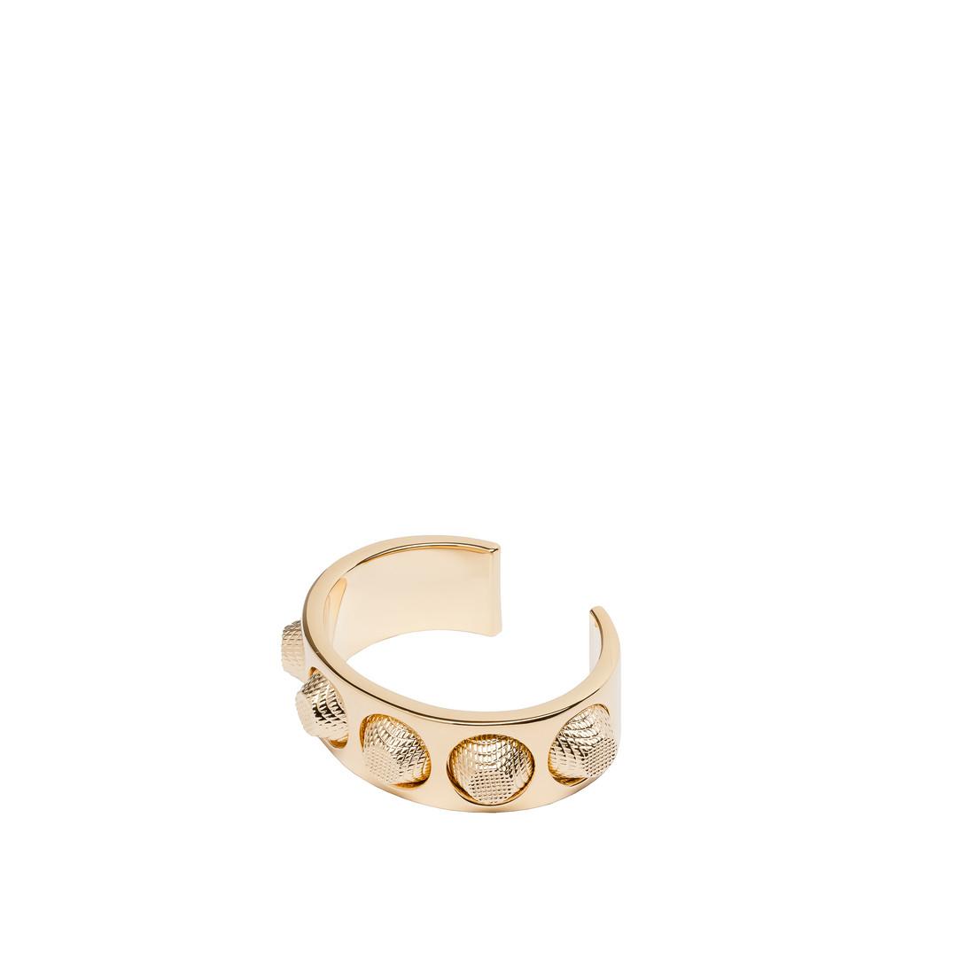 BALENCIAGA Classic Pale Gold Bracelet Studs Jewelry D f