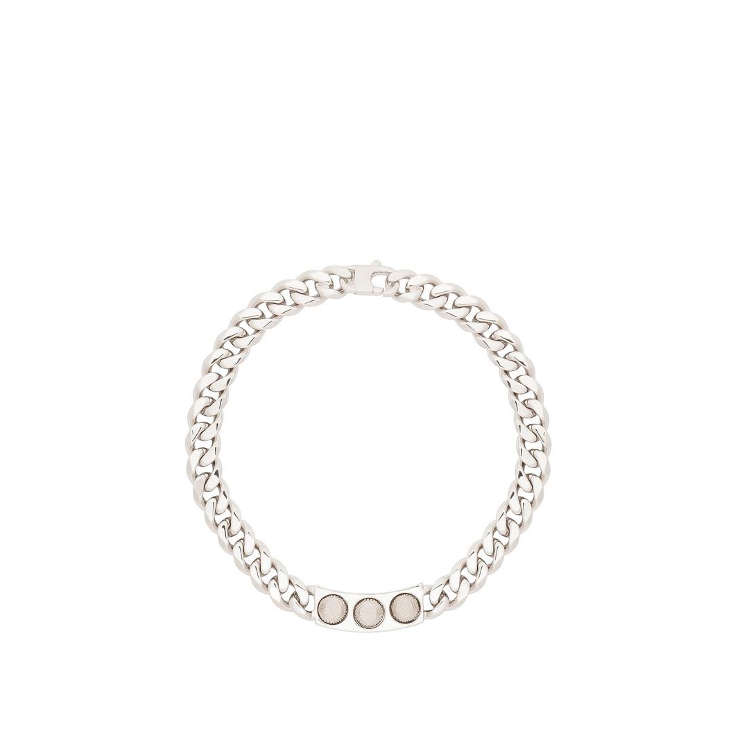 BALENCIAGA Balenciaga Classic Silver 3 Studs Necklace Studs Jewelry D f