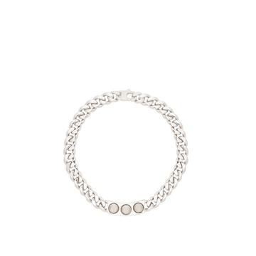 BALENCIAGA Studs Jewelry D Balenciaga Classic Silver 3 Studs Necklace f