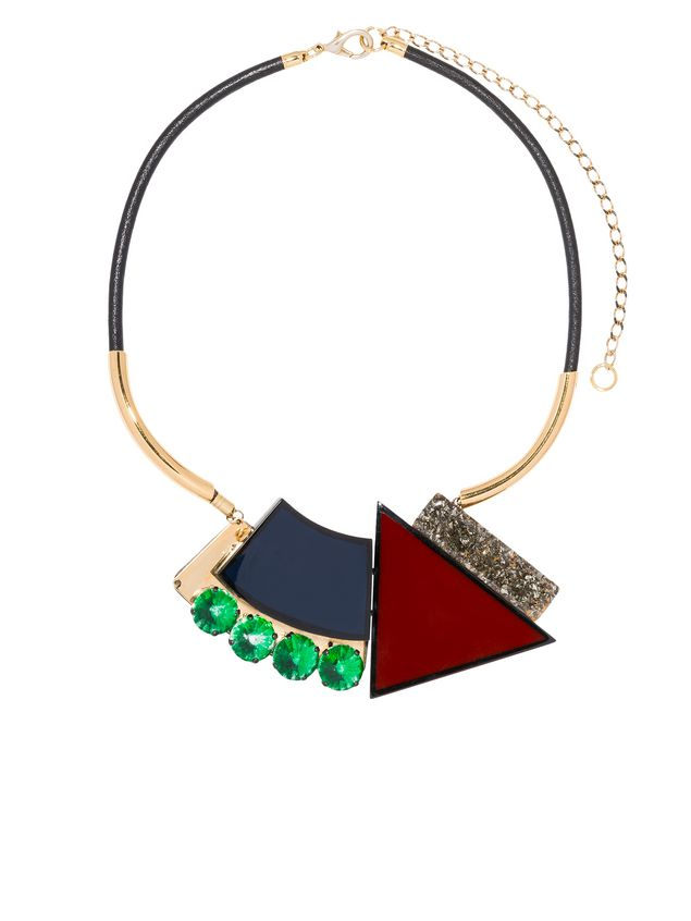 necklace n woman in adjustable d rhinestone length with ch marni