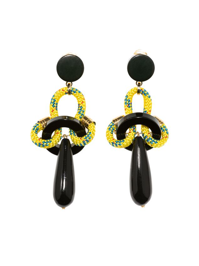 earrings leather on marni shop hanging black amazing deal