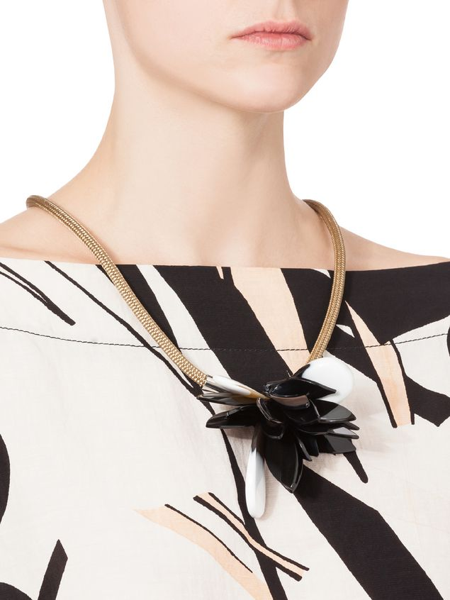necklace jewellery online for accessories compare co necklaces women buy marni floral fashiola petal leather uk