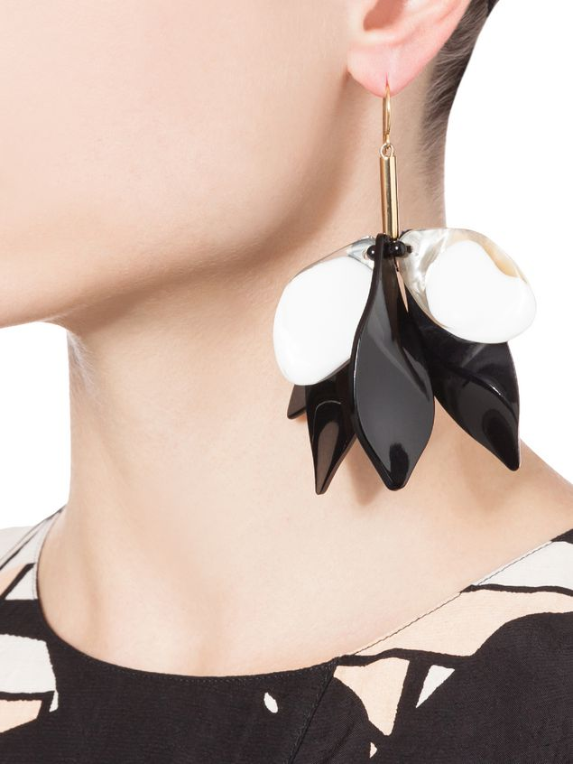 jewelry round black product in normal earrings lyst marni resin