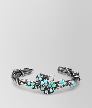BRACELET IN SILVER AND AQUAMARINE