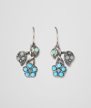 EARRINGS IN SILVER AND AQUAMARINE