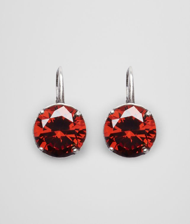 BOTTEGA VENETA EARRINGS IN SILVER AND RUSSET STONES Earrings Woman fp