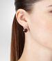 BOTTEGA VENETA EARRINGS IN SILVER AND RUSSET STONES Earrings Woman ap