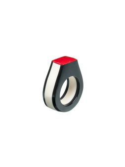 Marni Geometric ring in tri-colored resin Woman
