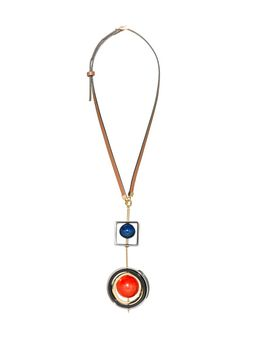 Marni Necklace in metal with spheres in horn Woman