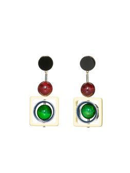 Marni Clip-on earrings with spheres in colored horn Woman