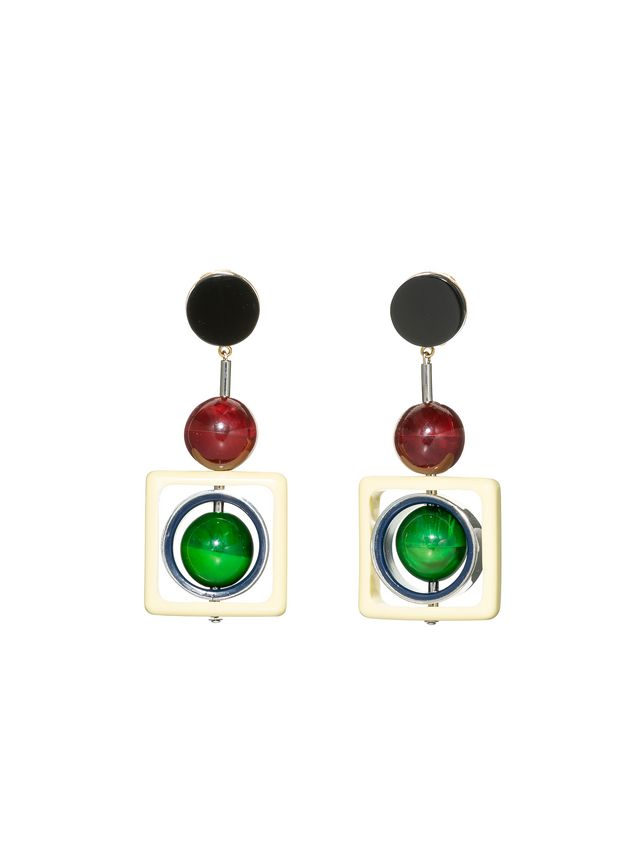 net operandi by marni lamevallar earrings moda lyst green s resin in hoop
