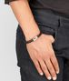 BOTTEGA VENETA BRACELET IN ESPRESSO INTRECCIATO NAPPA AND SILVER Bracelet Man ap