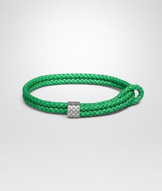 BRACELET IN IRISH INTRECCIATO NAPPA AND SILVER