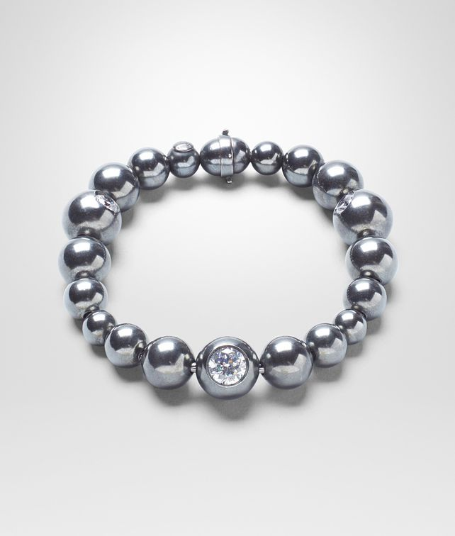 BOTTEGA VENETA BRACELET IN SILVER AND STONES Bracelet Woman fp