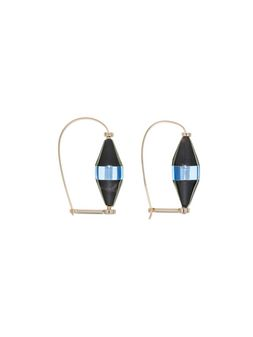 Marni Runway hourglass earrings in horn and resin Woman