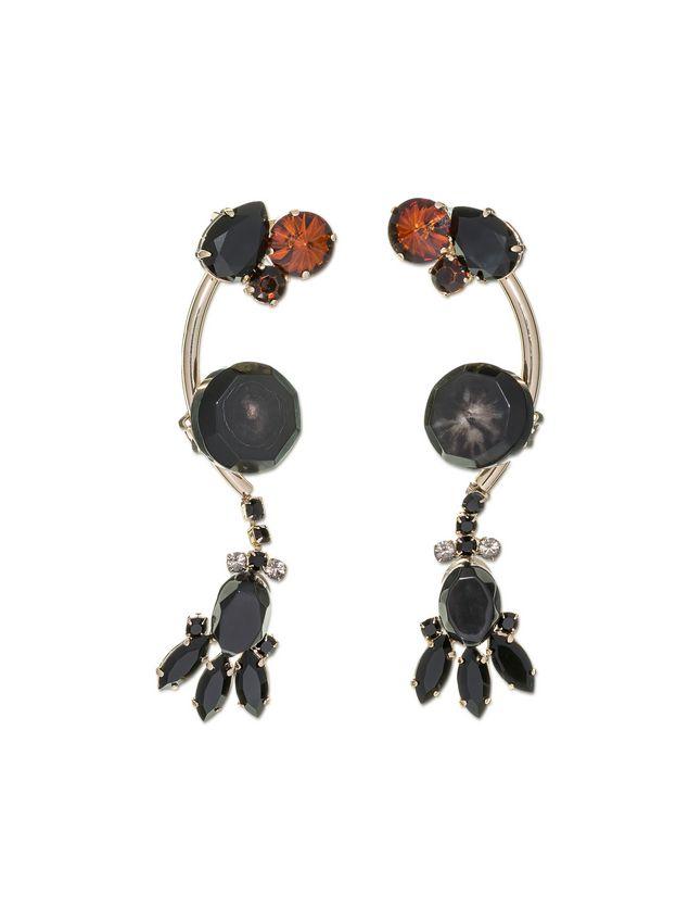 Marni Double-clip earrings in strass Woman - 1