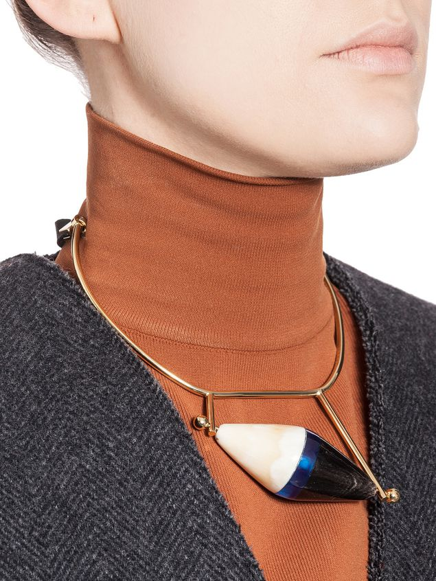 Marni Runway necklace in horn Woman - 2