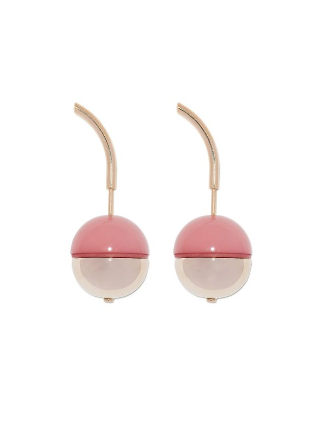 Marni Runway screw-back earrings in metal and resin Woman - 1