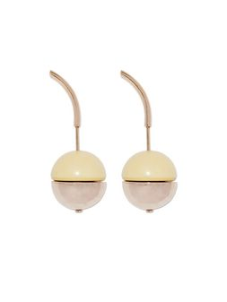 Marni Runway screw-back earrings in metal and resin Woman