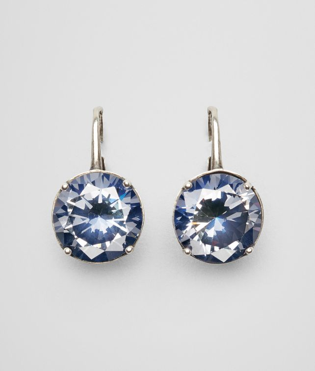 Bottega Veneta Earrings In Silver And Blue Stones Pickupinshipping Info