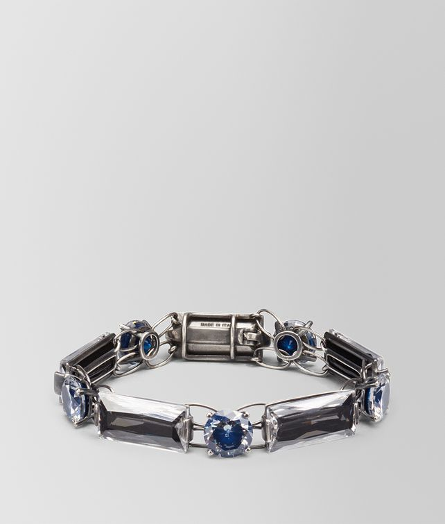 BOTTEGA VENETA BRACELET IN SILVER AND BLUE GREY STONES Bracelet Woman fp