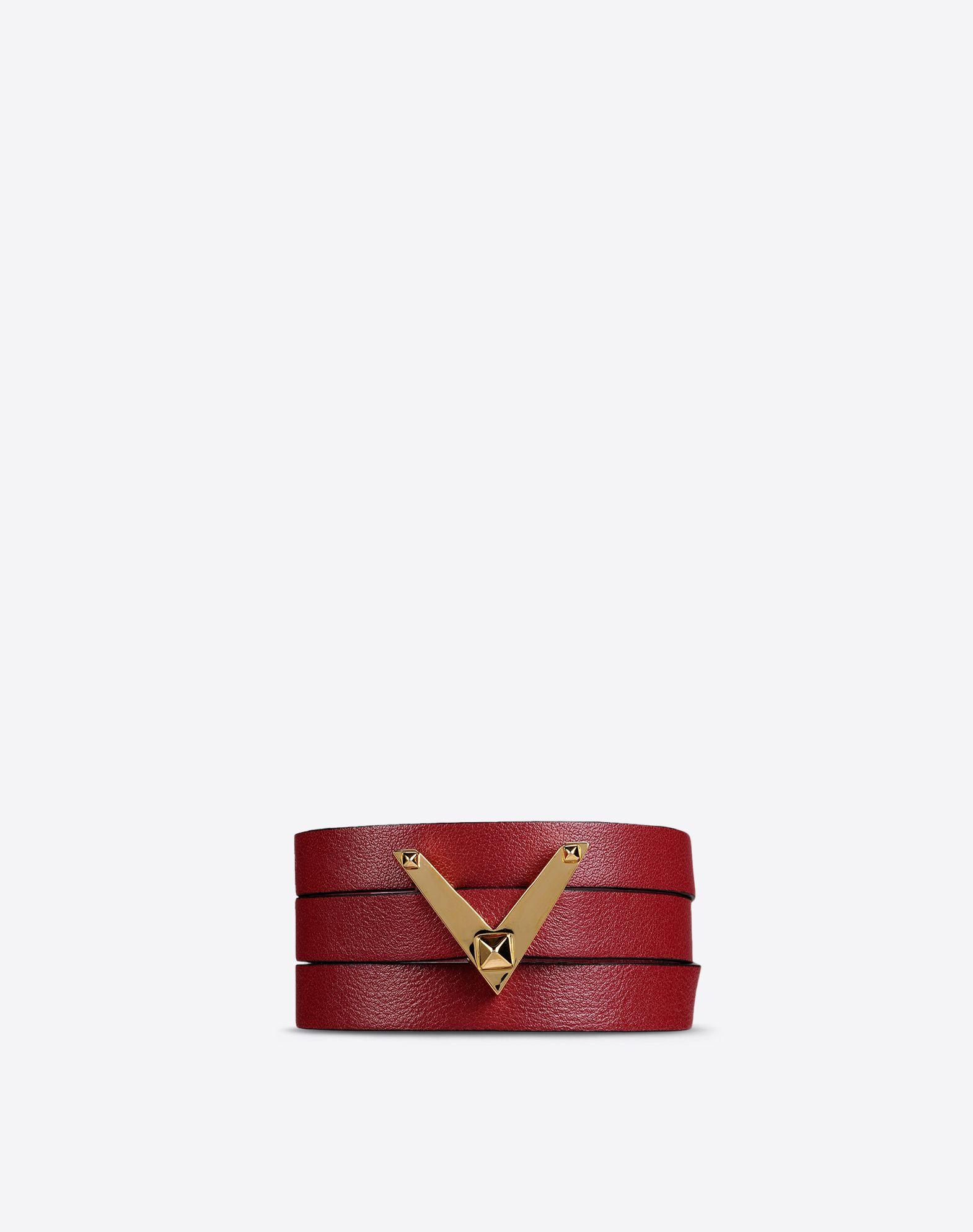 VALENTINO Logo detail Solid color Metallic buckle closure  50170927we