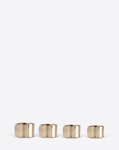 JEWELRY  Set of four brass rings