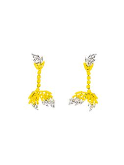 Marni Clip-on earrings in varnished strass Woman