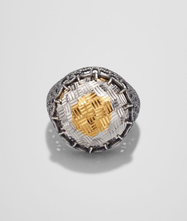 BOTTEGA VENETA RING IN YELLOW GOLD PLATED SILVER Ring D fp