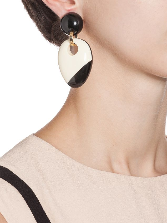 Marni Clip-on earring in resin and horn Woman - 2