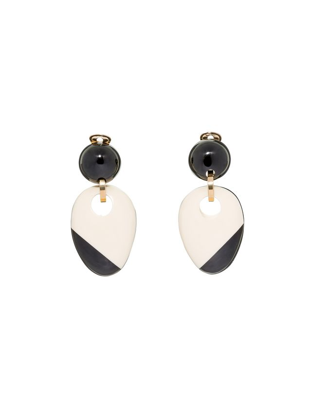 Marni Clip-on earring in resin and horn Woman - 1