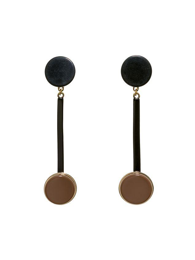 Marni Round clip-on earrings in acrylic resin Woman - 1