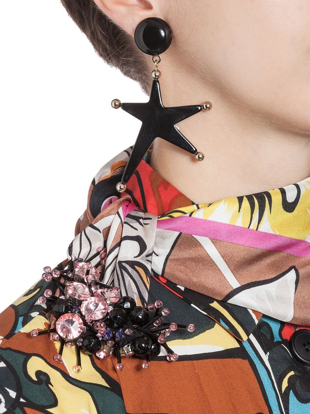 Marni Star-shaped clip-on earrings in acrylic resin Woman - 2